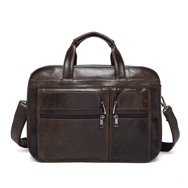 Genuine Leather Male Layer Cowhide Man Briefcase Business Affairs Handbag Single Shoulder Satchel Computer Office Bags For Men