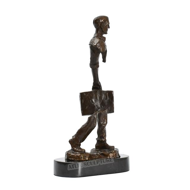 Famous Bruno Catalano Bronze Traveller Statue Sculpture 5