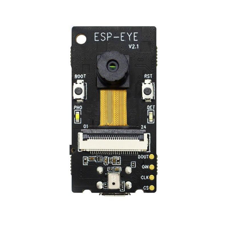ESP-EYE 2-мегапиксельная камера ESP32 4 Мбайт флеш-память 8 Мбайт PSRAM для распознавания лиц поддерживает WI-FI передачи изображения