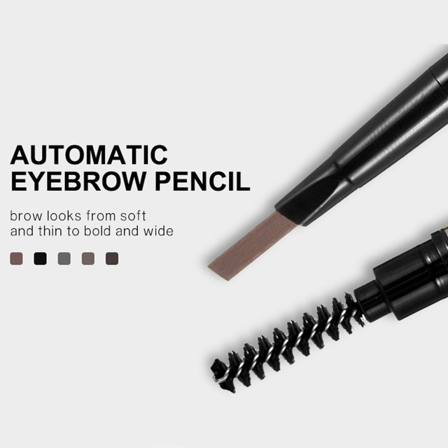Eyebrow Pencil 5 Color Double Head Manual Rotation Eyebrow Pencil Waterproof Durable Makeup Is Not Blooming Tattoo Dyed Pen 5