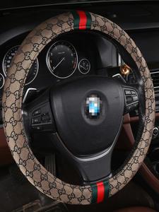 Car-Accessory Steering-Wheel-Cover Universal Fashion Linen-Material Brand Non-Slip Four-Seasons