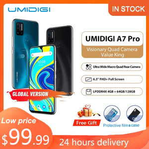 Original UMIDIGI A7 Pro smartphone android 10 undefined celular 4G 64GB/128GB ROM LPDDR4X Octa Core Global Version mobile Phones