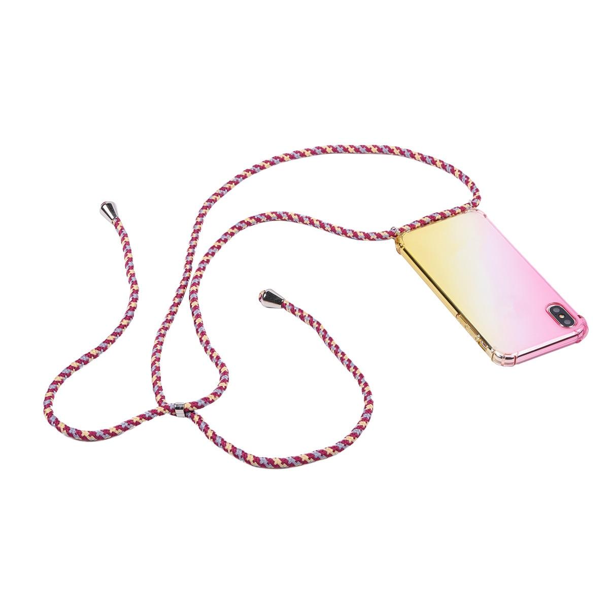 Радужный прозрачный чехол aurora для Samsung Galaxy S10 S10E S9 S8 plus S7 Edge note 10 9 8 ремешок на плечо шнур чехол|Специальные чехлы|   | АлиЭкспресс