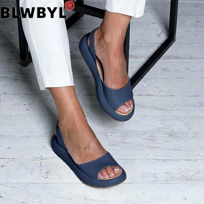 Women Sandals Flops Fashion Rome Slip-On Breathable Non-slip Shoes Woman Slides Solid Casual Female 2019 Dropshipping