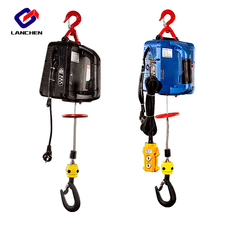 200KG Electric Hoist Portable Electric Hand Winch Traction Block Electric Steel Wire Rope Lifting Hoist Towing Rope 220V/110V