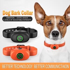 Image 2 - Pet Dog Anti Bark Collar Electric Collar Waterproof Dog Training Rechargeable Dog Stop Barking Collar Pet Trainer