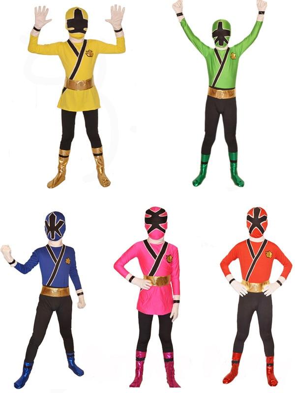 Мощный костюм Denji Sentai Megaranger из лайкры; Детский костюм для косплея рейнджеров для взрослых; красный/розовый/синий/черный/желтый костюм рейнджера зентай