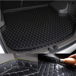 SJ Высокая сторона водонепроницаемый автомобильный багажник коврик хвост загрузки Лоток Лайнер грузовой задний коврик аксессуары для ...