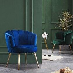 Luxus Nordic Stoff Einzigen Sofa Wohnzimmer Balkon Schlafzimmer Kleine Wohnung Esszimmer Kaffee Bar Stuhl Einfache Lounge Shell Stuhl