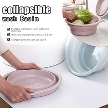 Pink Mini Portal Foldable Wash basin For Travelling Ourdoor 23*8cm