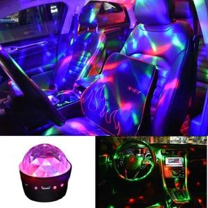 Автомобильная атмосферная лампа RGB светодиодный диско-шар, DJ вечерние сценические огни для F-Pace E pace E Type X S F type XJL XEL XFL XF XE XJ XK