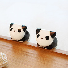 Cute Cartoon Ceramic Panda Desktop Creative Flowerpot Succulent Flower Pot  Planter