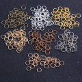 100 шт. 6 мм 7 цветов открытая петля «сделай сам» ожерелье браслет цепочка Ювелирные изделия Аксессуары производственные материалы
