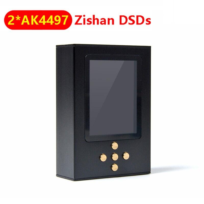 Nicehck zishan dsds dupla ak4497 profissional leitor de música mp3 dap alta fidelidade portátil decodificação de ferragem 2.5mm ak4497eq equilibrado 4497