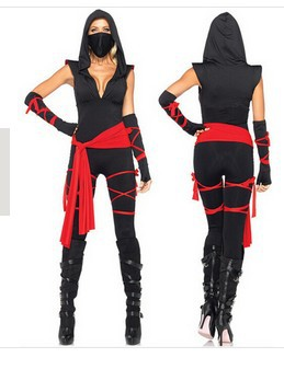 Masked Girl Halloween Hokkaido Ninja Warrior Gladiator Service Cosplay Anime Games Uniform