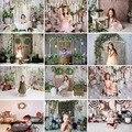 Весенние фоны для фотосъемки Пасхальная зеленая трава розовый цветок кролик зайчик детский день рождения фотозона фото фон реквизит для фо...