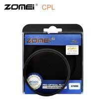 ZOMEI CPL круговой поляризационный фильтр 49 52 55 58 62 67 72 77 82 мм объектив камеры поляризатор фильтр для Nikon Canon