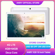 ES. Las ventas especiales ANRY X25 10,1 pulgadas Tablet PC Deca Core 4G llamada de teléfono IPS 1920X1200 4GB + 64GB de Android 8,1 Tablet 10