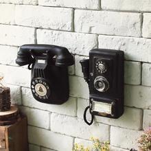 Nuevo Vintage Shabby Teléfono de montaje en pared arte Bar adorno para Club de la decoración del hogar