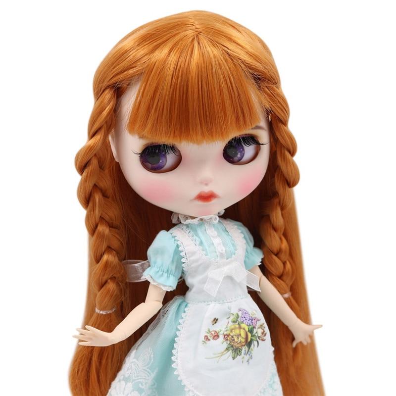 ICY Nude Blyth Doll dla serii, ale nie gwarantujemy poprawności wszystkich danych. BL0145 pomarańczowy brązowy kolor włosów rzeźbione usta matowy twarzy dostosowane twarzy wspólne ciało 1/6 bjd w Lalki od Zabawki i hobby na  Grupa 1