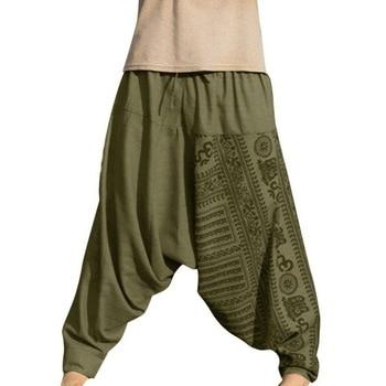 Men Hip Hop Streetwear Long Casual Print Loose Trousers Large Size Nationality Trousers Harem Pants Jogger Hombre Men