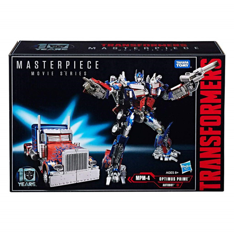 Takara Tomy Transformers Robots Movie Masterpiece <font><b>MPM04</b></font> Optimus Prime MPM-4 Metal Deformation Action Figure Toys Collections image