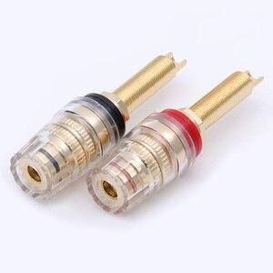 Image 4 - Connecteur de bornes HIFI, 4 paires de postes de liaison en laiton, poste de liaison de 19MM, amplificateur de haut parleur HIFI, prise Audio assortie à une prise banane de 4mm