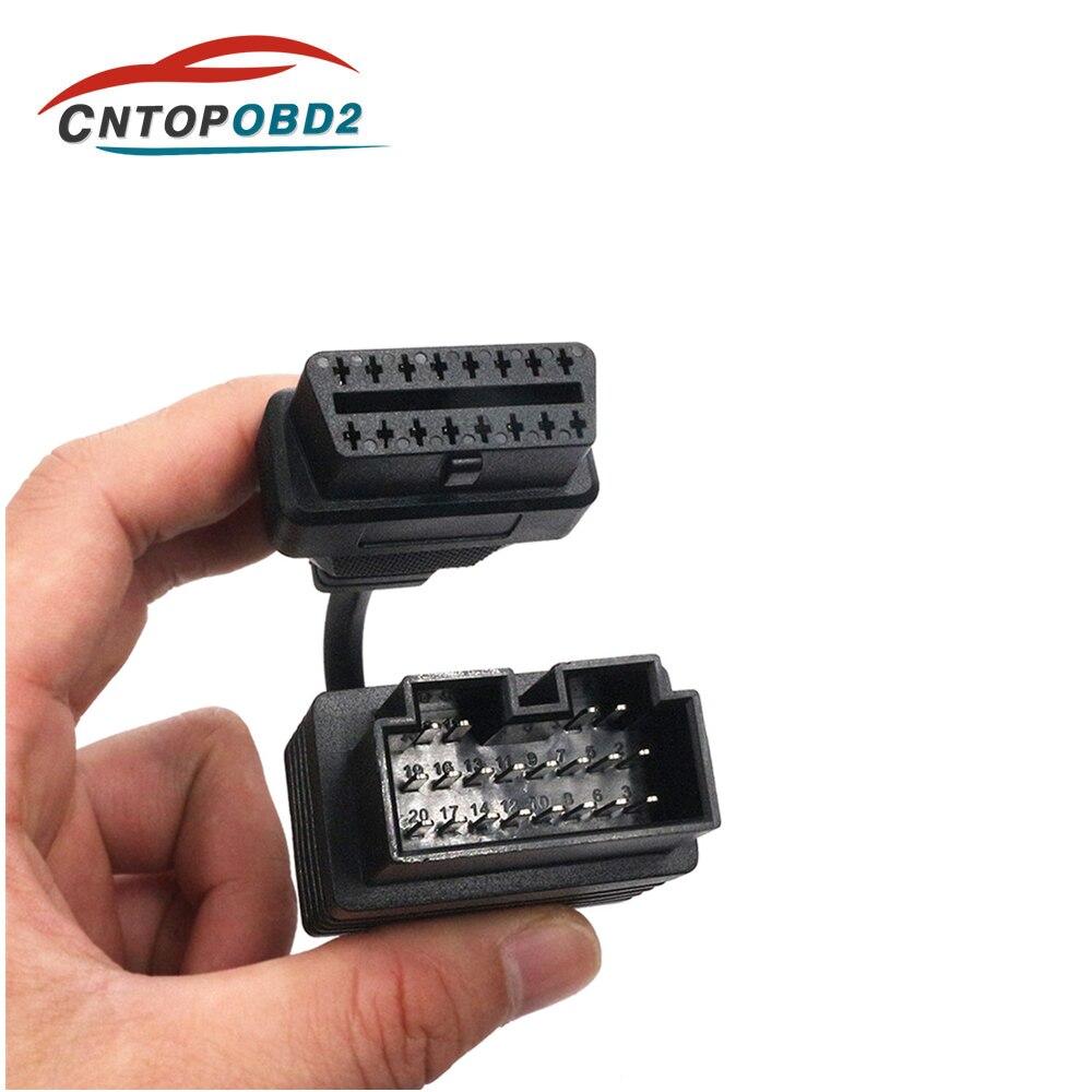 Heißer Verkauf Für KIA Sportage Diagnose Kabel 20 pin zu 16pin Auto Diagnose Adapter 20 pin für KIA 20pin OBD2 auto Stecker