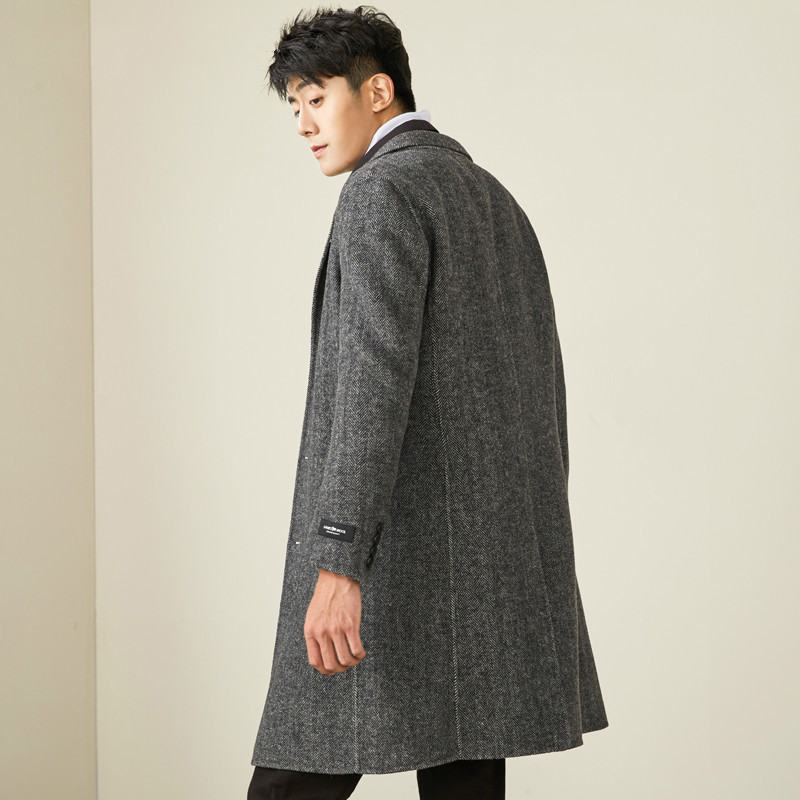 Long Wool Coat Men Autumn Winter Woolen Coat Male Jacket Overcoat Mens Coats And Jackets Abrigo Hombre 2020 MG-1800032