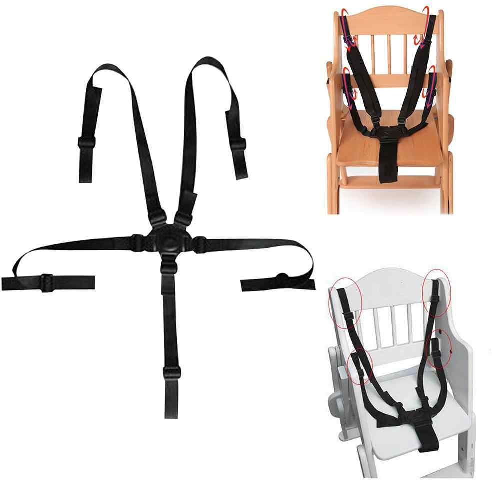 5 ponto cinto de segurança do bebê cinta arnês para carrinho de criança cadeira carrinho carrinho buggy infantil assento ajustável triângulo segurança cinto almofada clipes