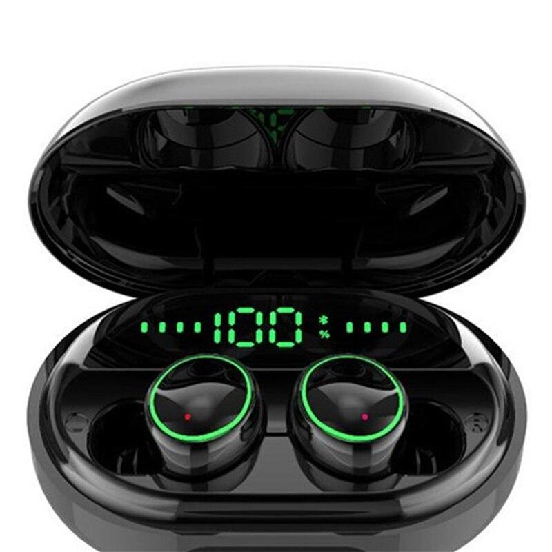 TWS C5S Bluetooth 5.0 Binaural Earphone True Wireless Earbuds Waterproof Headset Stereo Bass cvc 8.0 Noise Cancelling Headphones|Bluetooth Earphones & Headphones| |  - title=