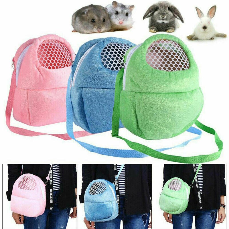 Small Pet Carrier Rabbit Cage Hamster Chinchilla Portable Travel Warm Cute Bags Cages Guinea Pig Carry Pouch Breathable Bag