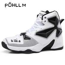 PUHLLM  Boots Basketball Shoes Lebron James High Training Sneakers Ankle Men For Outdoor Sports ShoeSG8