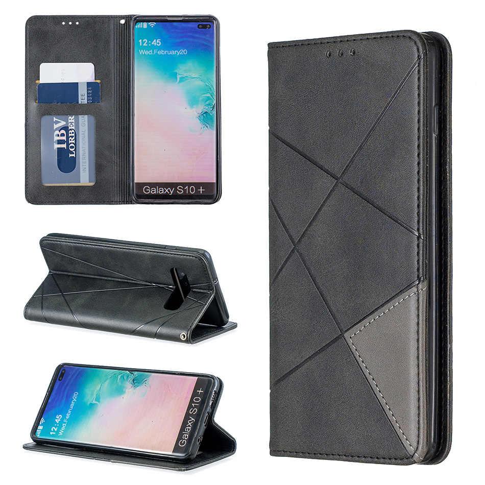 S10E Từ Tính Lật Ví Trường Hợp Dành Cho Samsung Galaxy Samsung Galaxy Note 10 Pro A10E A20E A10 A20 A30 A40 A50 A70 S9 s10 PU Nắp Lưng Da