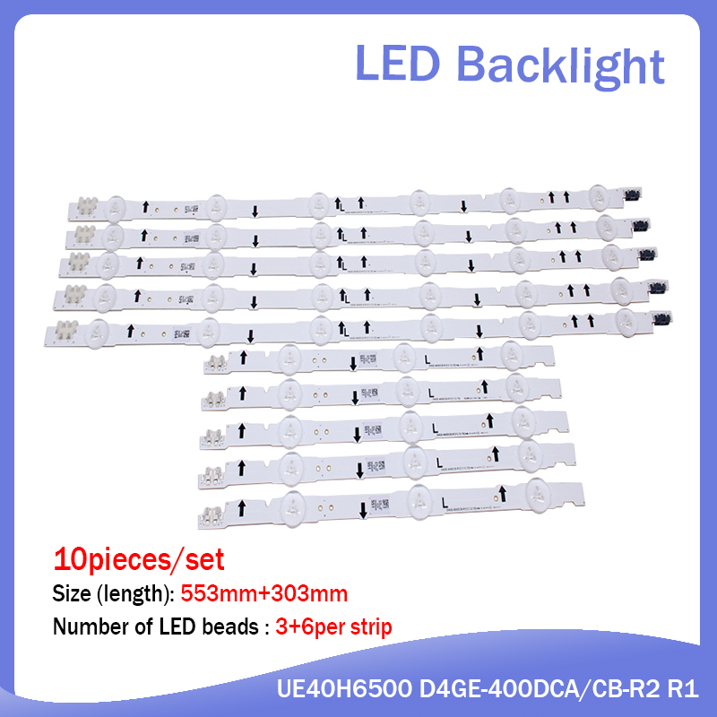 New 20 PCS/set LED Strip For Samsung UE40H6500 D4GE-400DCA-R2 R1 D4GE-400DCB-R2 R1 BN96-30449A 30450A BN96-38889A 38890A 30417A