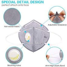 Unisex KN95 Face Mask Dustproof Windproof Respirator PM 2.5 Respirator Mask With Breathing Valve Anti-Pollution Face Mouth Mask