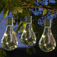 Outdoor Solar Decorative Color Bulb Light LED Hanging Lamp Holiday Party