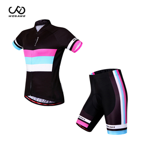 Summer Woman Cycling Jersey Sleeve Pad Bicycle Jersey Racing Riding Shirt ropa ciclismo female Breathable Jerseys Cycling suit