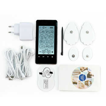 FDA 2 channel LED Screen smart health EMS TENS Unit electronic acupuncture Massager 12 mode ElectroTherapy device pulse massager