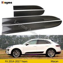 цена на Side Fender Door Air Vents Kit Trim carbon fiber For Porsche Macan 2014-2017 years car front back doors fender 4Pcs Pasted
