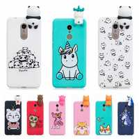 etui for Xiaomi Redmi 5 Plus Case Cover Redmi 5 3D Cute Panda Unicorn Silicon Case Funda for Xiaomi Redmi 5 Plus Xiomi Case Girl