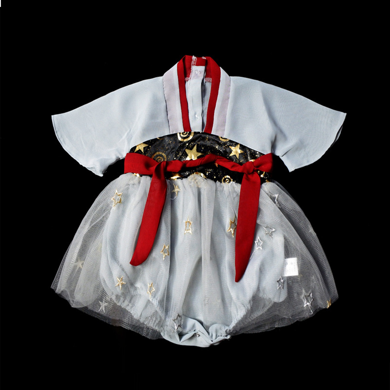 Girls Chinese Clothing Chest-high Dress Infant Thin Chinese-style Chinese Costume 0-3 Years Old Baby Improvement Onesie Ancient