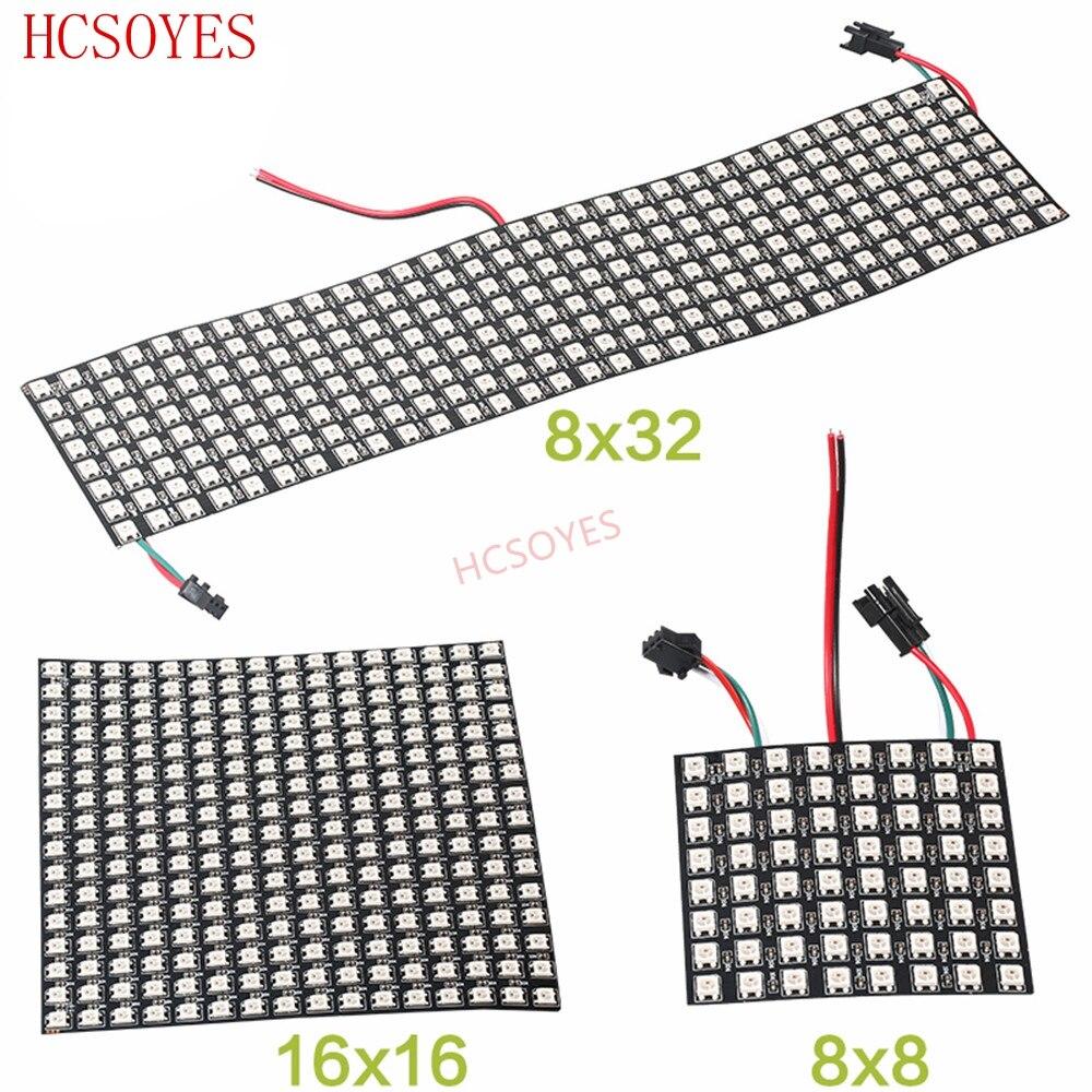 Image 2 - 16x16 8x32 8x8 led Pixels WS2812B Digital Flexible LED Panel Individually addressable Full Dream Color DC5V-in LED Strips from Lights & Lighting
