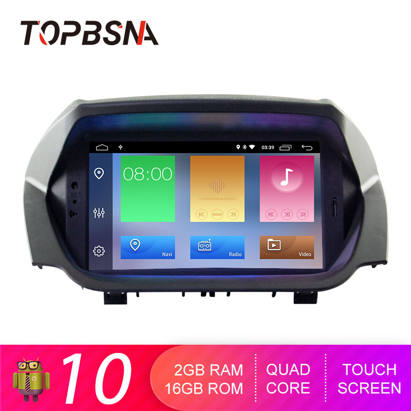 TOPBSNA Car DVD Player Android 10 For Ford Ecosport GPS Navi Multimedia 2 Din Car Radio Stereo RDS Headunit Auto WIFI Video IPS image