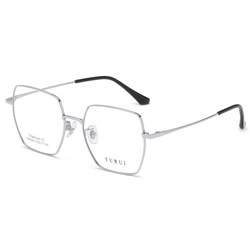 Fashion Square Glasses Male IP Plating Titanium Optical Retro Large Frame Female High Quality Plain Glasses  Comfortable Light