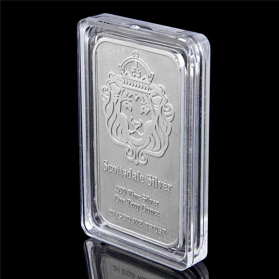 1 Troy oz .999 Silver art bar In God We Trust
