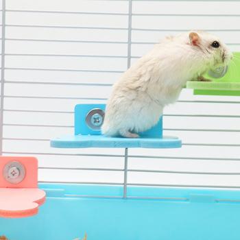 Chomik platforma wieszak stojący kreatywna uniwersalna klatka dla chomika platforma ptak okoń platforma drewniany talerz zabawki zabawna zabawka tanie i dobre opinie CN (pochodzenie) Hamster Platform