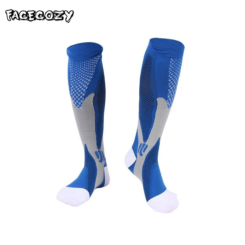 Facecozy Compression Socks Men Women Sports Football Basketball Protect Running Socks For Varicose Veins Knee High Stockings