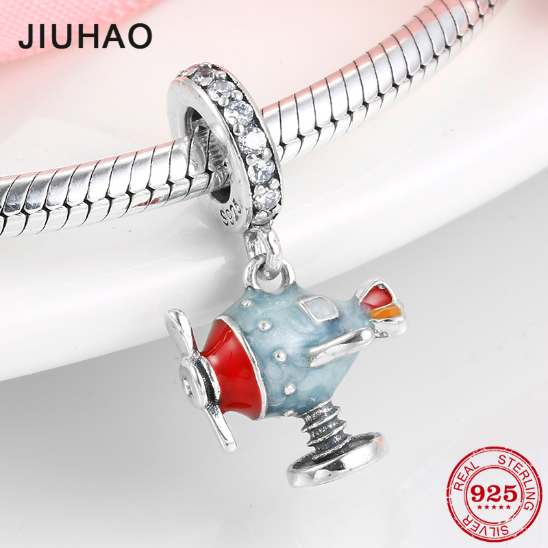 2019 New 925 Sterling Silver Colorful Endless Fun Helicopter Charm Beads Fit Original Charms Pandora Bracelets Jewelry Making