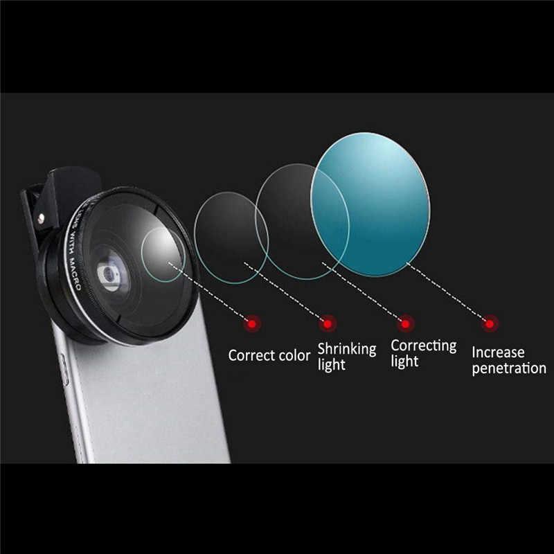 Evrensel kamera telefon Lens kiti klip süper geniş açı 0.45X makro Lens 12.5X çanta seti için iPhone X 8 7 artı samsung lensler EY482